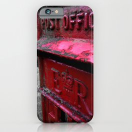 English Red Post Box Herefordshire Countryside iPhone Case