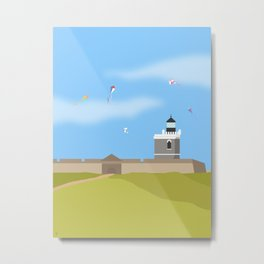 Lighthouse, El Morro, Puerto Rico Metal Print