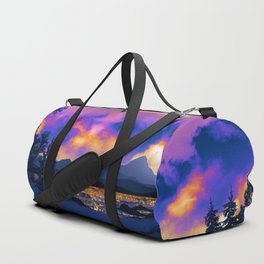 Night Sky Sunset Duffle Bag