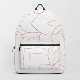 Mandala Rose Gold Pink Art Deco Backpack