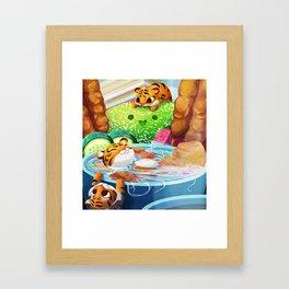 Tiny Hungry Cats Framed Art Print
