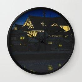 Hasui Kawase, Kabuki Theatre At Night - Vintage Japanese Woodblock Print Art Wall Clock