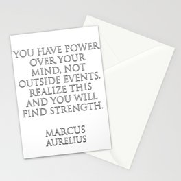 You have power over your mind Stationery Cards