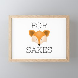 For Fox Sakes Framed Mini Art Print