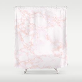blush marble Shower Curtain