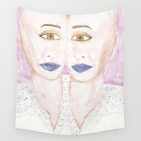 twins Wall Tapestries featuring TWINS by Marie Pascale L
