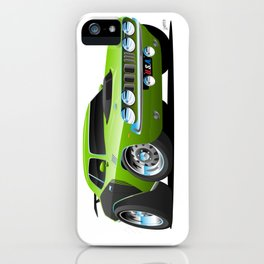 Classic Seventies Style American Muscle Car Cartoon iPhone Case