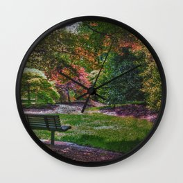 The Park Bench Wall Clock