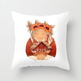 To all the amazing grandmas Throw Pillow