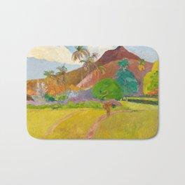 Tahitian Landscape by Paul Gauguin Bath Mat