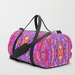 Ultraviolet Purple Sugarcane Pattern Duffle Bag
