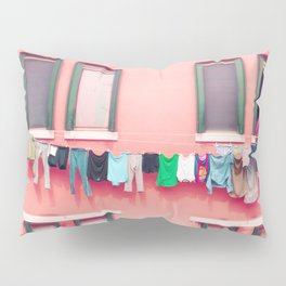 Laundry Venice Italy Travel Photography Pillow Sham