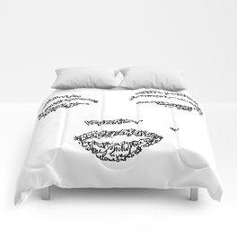 Marilyn Monroe WordsPortrait Comforters