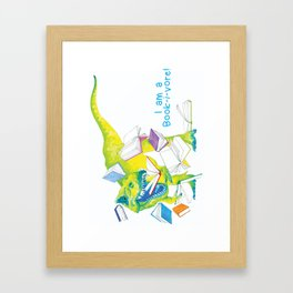 I am a Book-i-vore! Framed Art Print