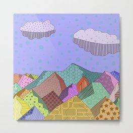 Pattern Landscape Metal Print