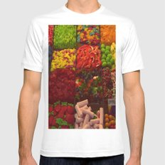 Colorful Candies Mens Fitted Tee White MEDIUM