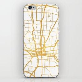 COLUMBUS OHIO CITY STREET MAP ART iPhone Skin