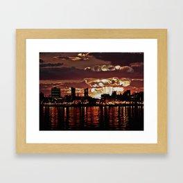 Angry Sunset. Framed Art Print