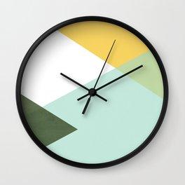 Geometrics - citrus & concrete Wall Clock