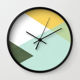 Geometrics - citrus & concrete Wall Clock