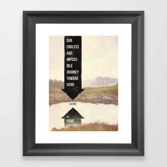 Endless Journey Home Framed Art Print