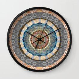 Elegance of Timeless Peace Boho Lace Depth Meditation Print Wall Clock