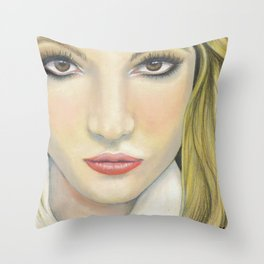 Brit Bitch Throw Pillow