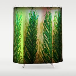 le grande leaves Shower Curtain
