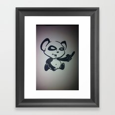 Panda With Attitude Framed Art Print