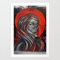 Crying Lady Art Print