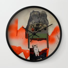 Supper with Cat Wall Clock
