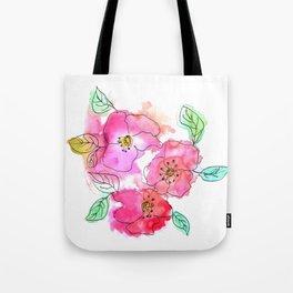 Pink Watercolor Flowers // Floral Feelings Tote Bag