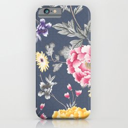 Charcoal Chintz Classic Pattern iPhone Case