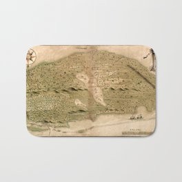 Map Of Bahamas 1700 Bath Mat