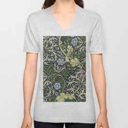 William Morris Seaweed Pattern Unisex V-Neck