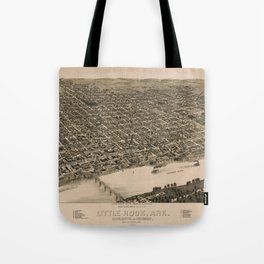 Perspective Map of Little Rock, Arkansas (1887) Tote Bag
