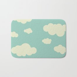 vintage clouds Bath Mat