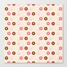 Cute Little Donuts on Cream Canvas Print