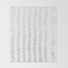 Silver leaf trellis Throw Blanket