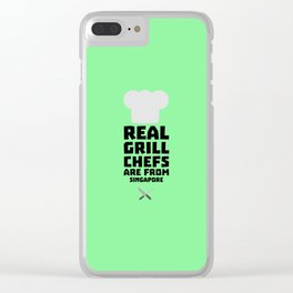 Real Grill Chefs are from Singapore T-Shirt Dme6v Clear iPhone Case