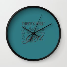 And Then There's You Wall Clock