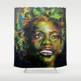 Nina Just Cares for Me Shower Curtain