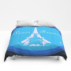 Paris France Comforters