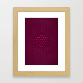 Metatron's Cube Framed Art Print