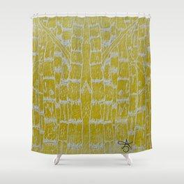 Yellow Sugarcane Shower Curtain