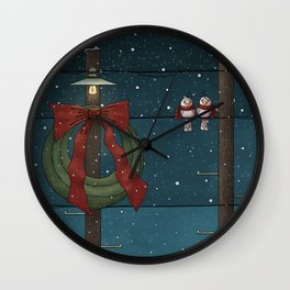 There's a Feeling of Christmas Wall Clock