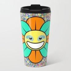 SUPER FLOWER POWER Metal Travel Mug