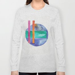180818 Geometrical Watercolour 7 Long Sleeve T-shirt