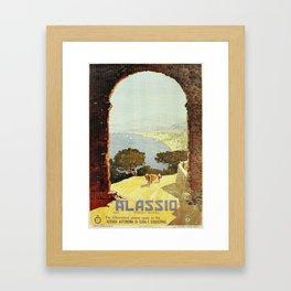 1920s Alassio Italy Framed Art Print