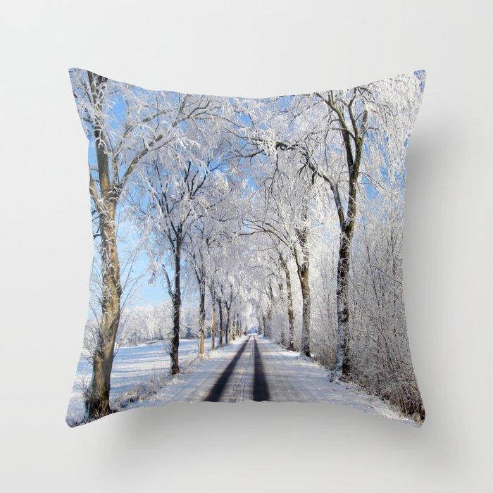 Winter-avenue Throw Pillow